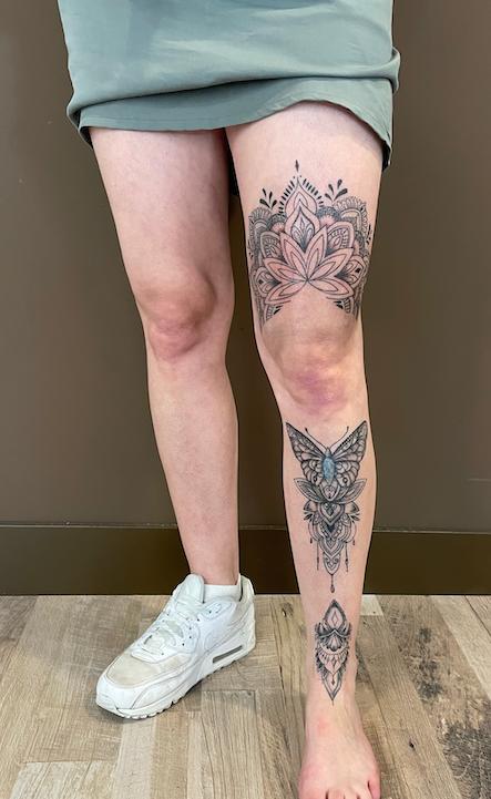Mandala leg sleeve
